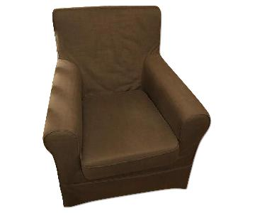 West Elm Dark Grey Blue Arm Chair