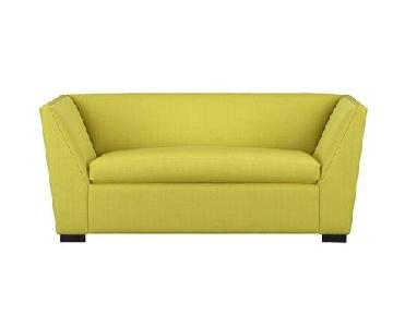CB2 Julius Grass Twin Sleeper Sofa