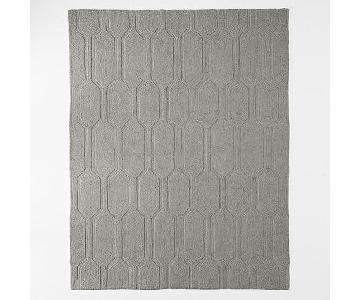 West Elm Honeycomb Textured Wool Rug in Plaster