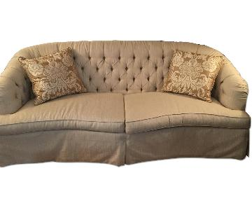 Lillian August Tufted Slipcovered Sofa