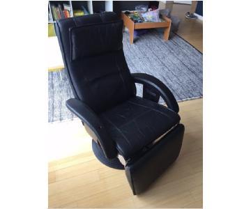 Nelo Swedish Leather Recliner Swivel Chair