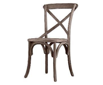 Restoration Hardware Madeleine Side Chair w/ Custom Cushion