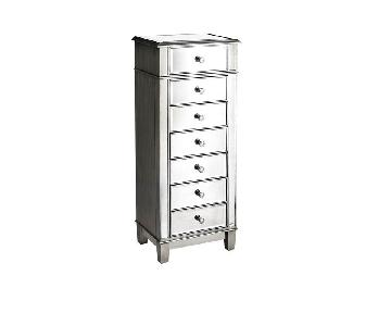 Pier 1 Mirrored Silver Lingerie Chest