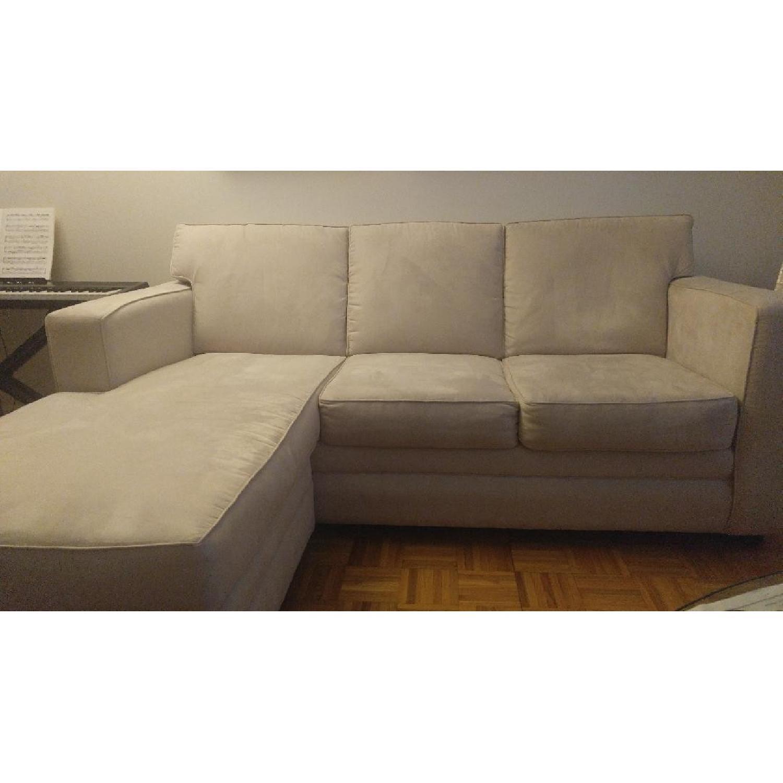 Klaussner Contemporary 2 Piece Sectional Sofa ...