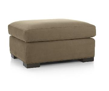 Crate & Barrel Axis Ottoman