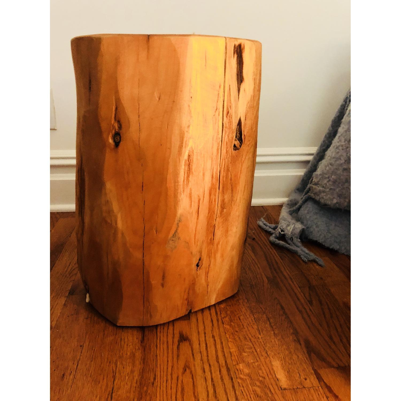 ... West Elm Tree Stump Side Table 0 ...