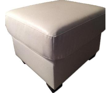 Lifestyle Solutions Chico White Ottoman