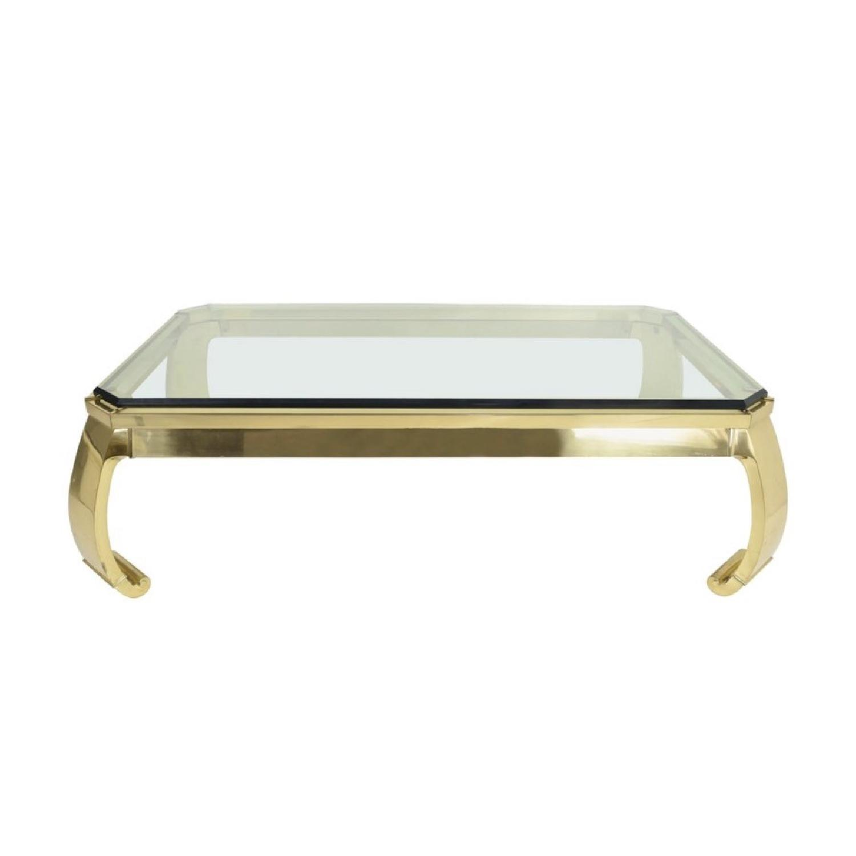 Etonnant ... Karl Springer Brass U0026 Glass Ming Leg Coffee Table 0 ...