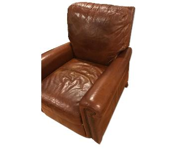 Lillian August Brown Leather Recliner Chair