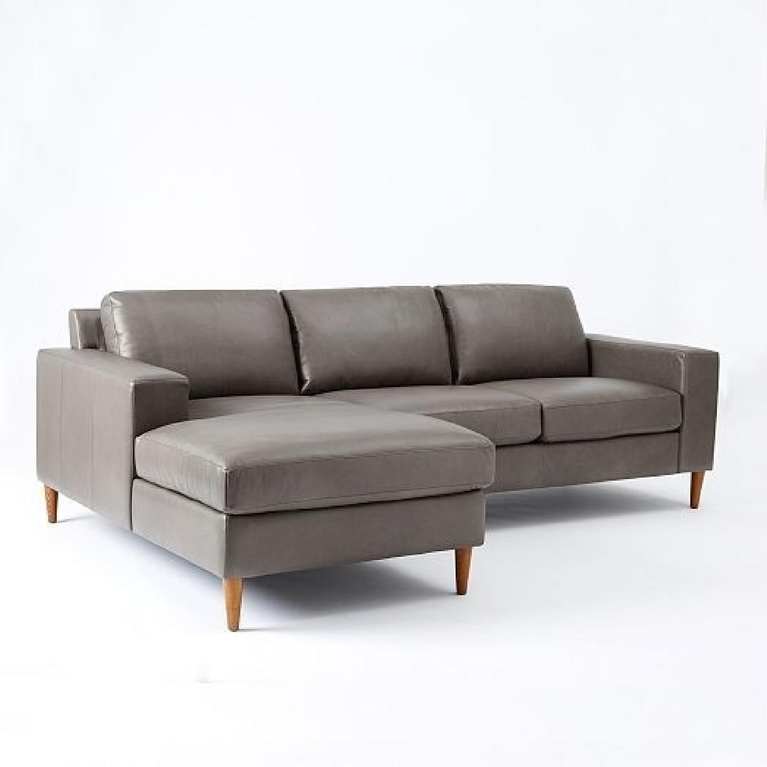 West Elm Leather 2-Piece Chaise Sectional Sofa ... : 2 piece chaise sectional - Sectionals, Sofas & Couches
