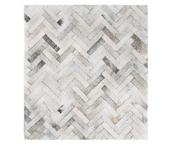 The Citizenry Caminata Cowhide Area Rug in Grey