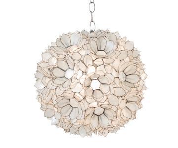 Worlds Away Venus Hanging Capiz Shell Pendant Lamp