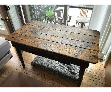 Antique Rustic Farm Table