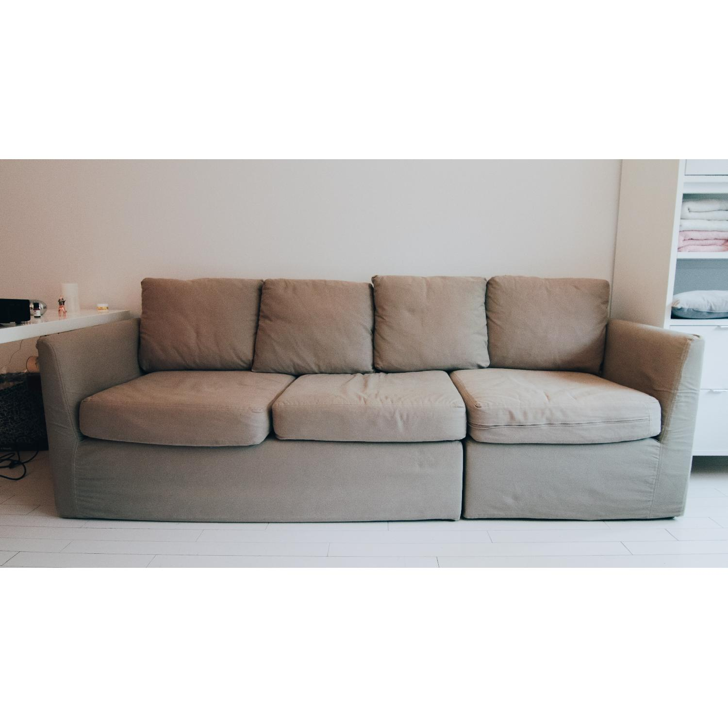 ... Mitchell Gold + Bob Williams 2 Piece Slipcovered Couch 0 ...