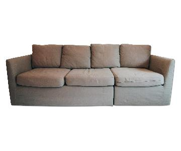 Mitchell Gold + Bob Williams 2 Piece Slipcovered Couch