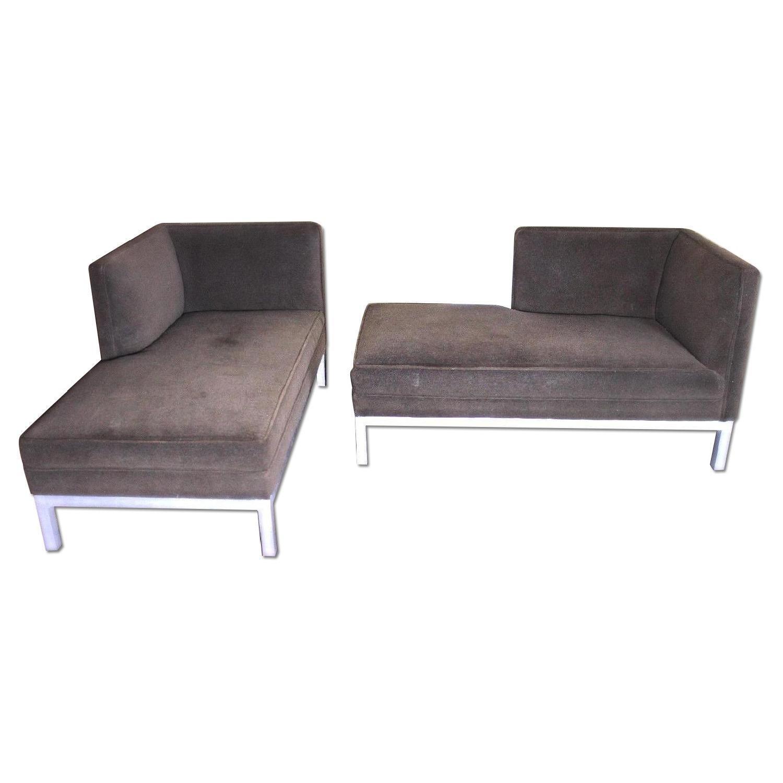 Brown Jordan Chaise Lounge in Steel