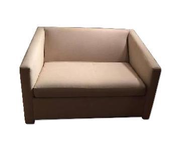 Crate & Barrel Reclining Love Seat