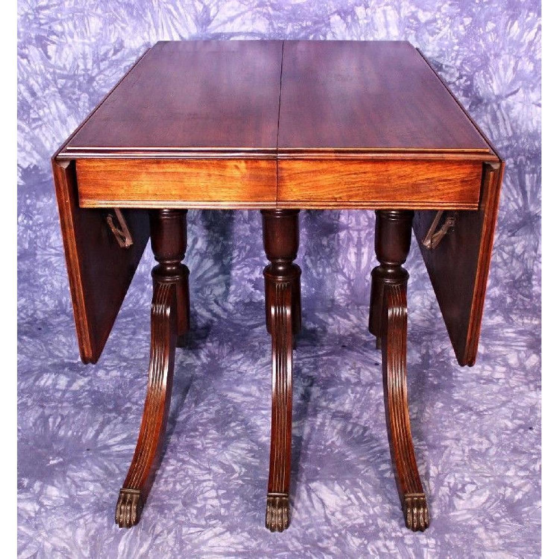 1930 Duncan Phyfe Antique Mahogany Drop Leaf Dining Aptdeco