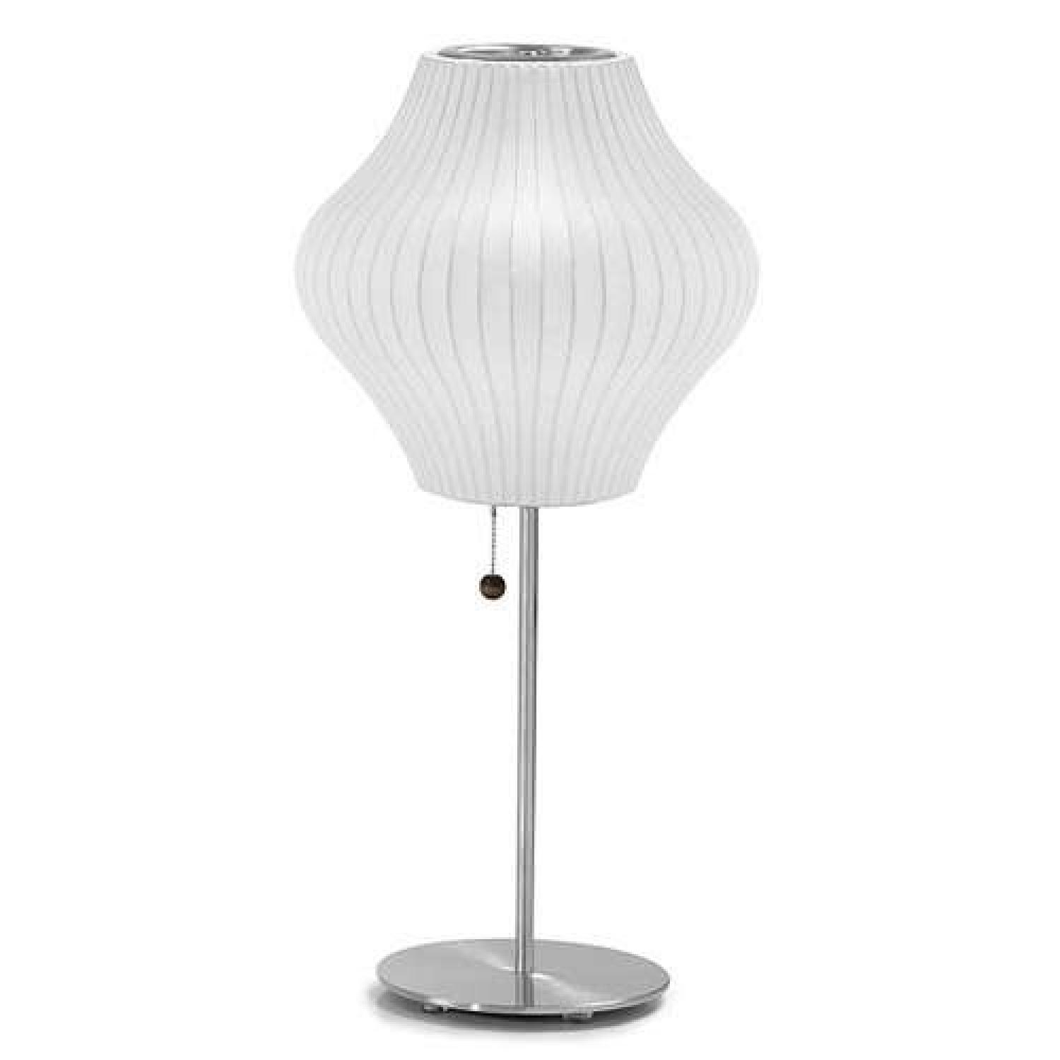 George Nelson Bubble Lotus Pear Table Lamp W/ Nickel Base ...
