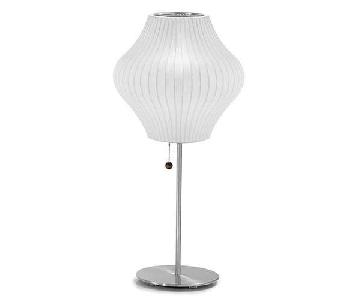 George Nelson Bubble Lotus Pear Table Lamp w/ Nickel Base