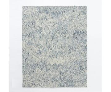 West Elm Vines Blue Lagoon Wool Rug