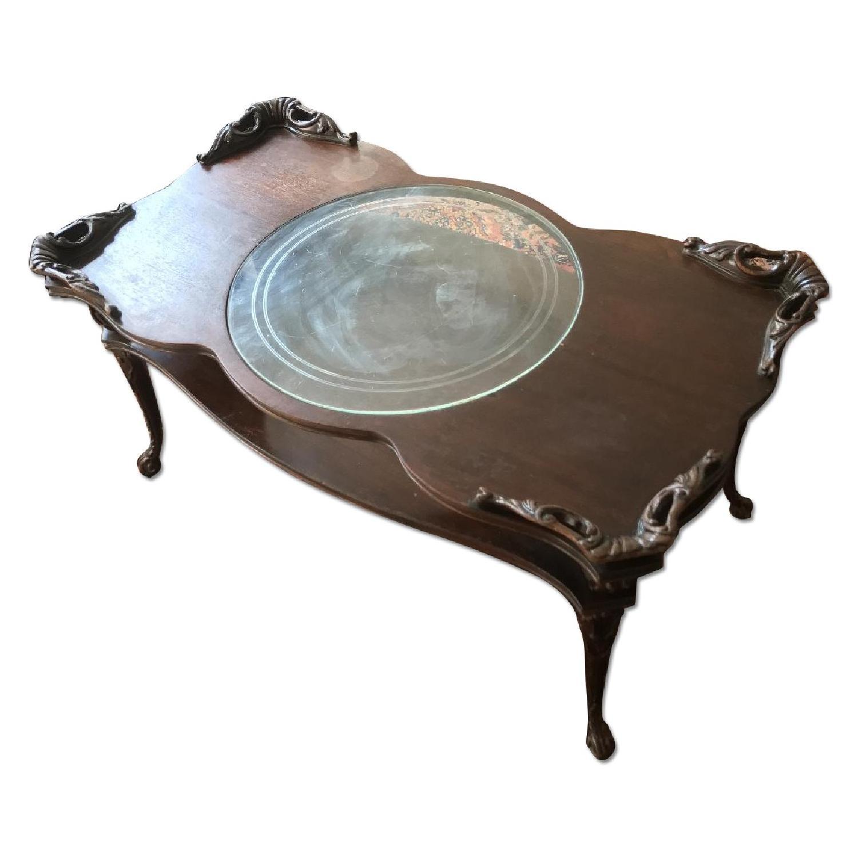 Victorian Glass Coffee Table AptDeco