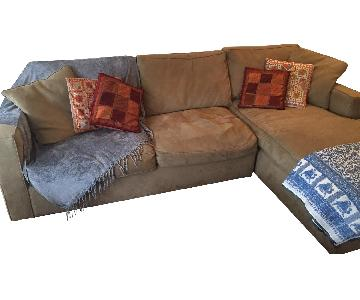 Room & Board 2 Piece Sleeper Sectional Sofa