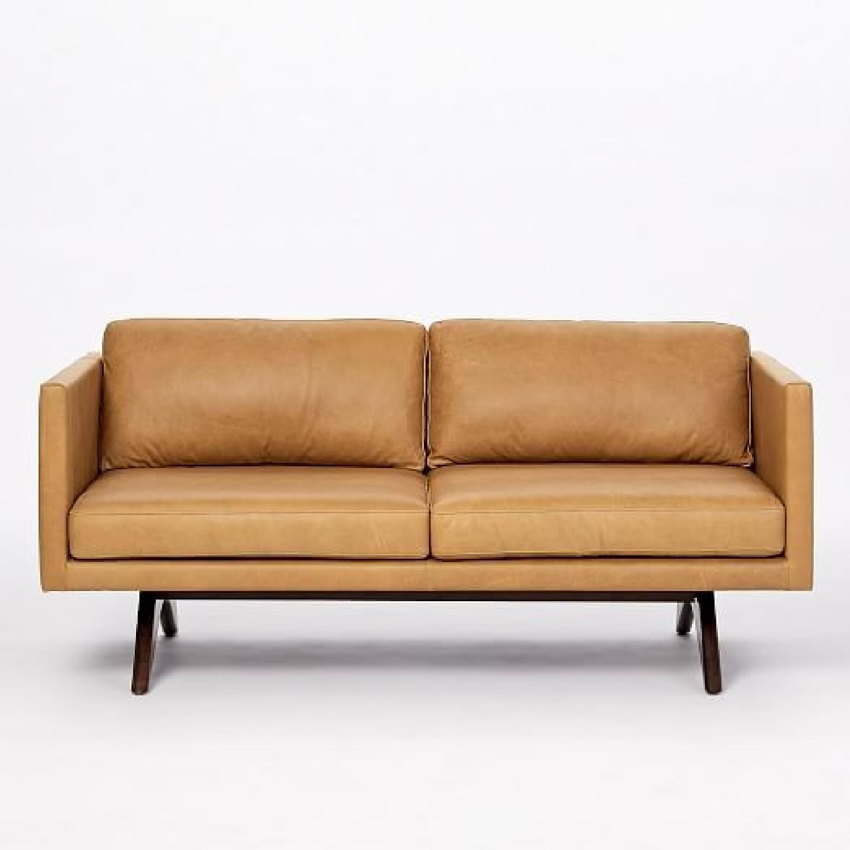 West Elm Brooklyn Leather Loveseat