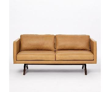 West Elm Brooklyn Leather Loveseat