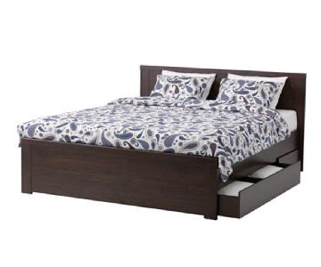 Ikea Brusali Full Size Bed w/ Storage