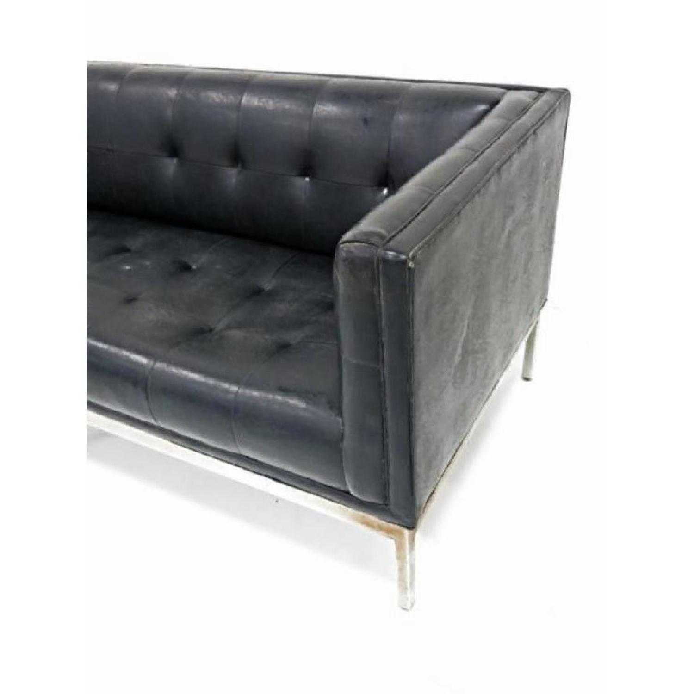 Black Mid Century Modern Sofas: Knoll Patrician Black Mid Century Modern Sofa