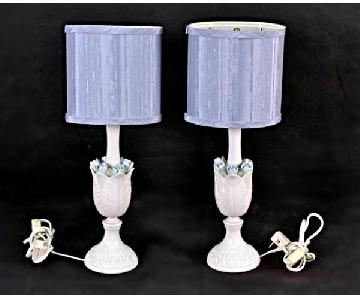 Porcelain Blue & White Floral Table Lamp