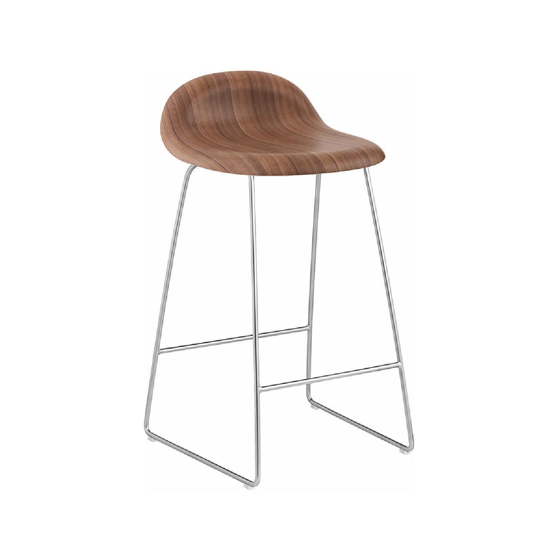 Danish Design Store Gubi 3D Wood Counter Stool