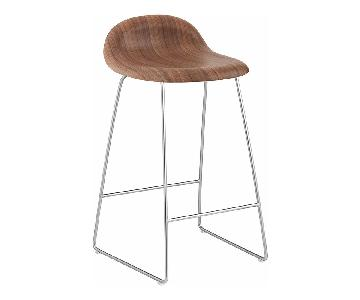 Danish Design Store Gubi 3D Wood Counter Stool