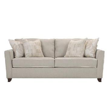 Raymour & Flanigan Sunbrella Caruso Queen Sleeper Sofa