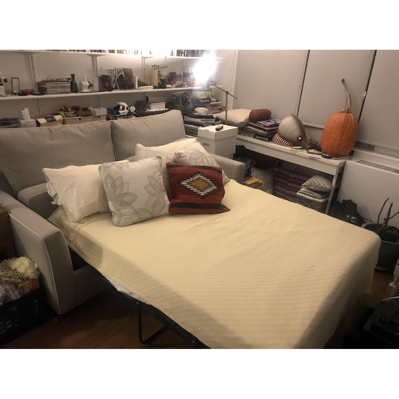 Raymour & Flanigan Sunbrella Caruso Queen Sleeper Sofa AptDeco