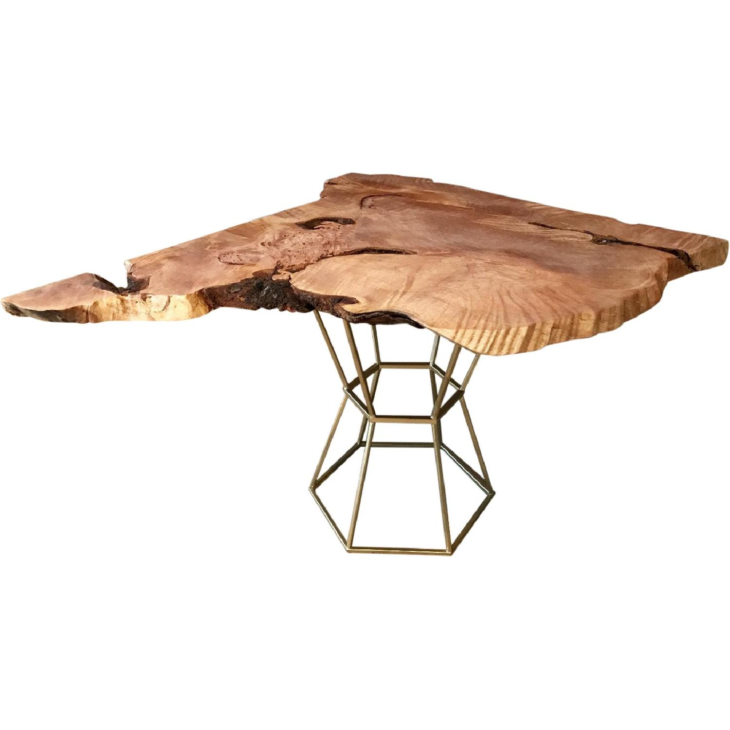 Modern Organic Table With Burl Wood Accents Rustic Coffee Table