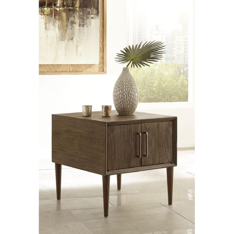 Ashley Kisper Dark Brown Rectangular Cocktail Table-2
