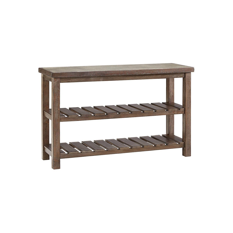 Ashley Furniture Vennilux Grayish Brown Sofa Table