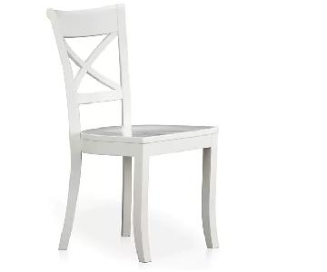 Crate & Barrel Vintner White Wood Dining Chair