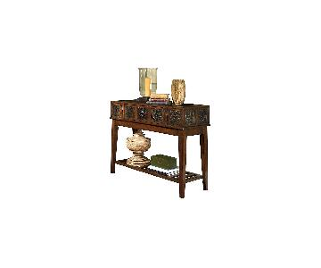 Ashley Furniture McKenna Dark Brown Sofa Table