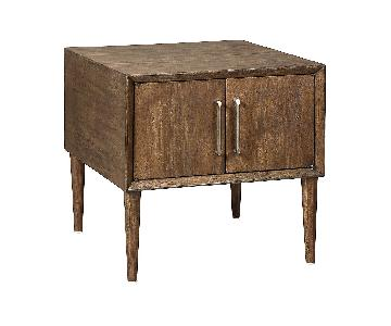 Ashley Furniture Kisper Dark Brown Square End Table