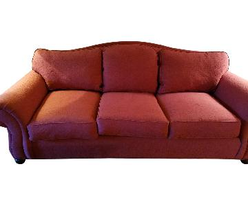 Ethan Allen Red 3 Seater Sofa