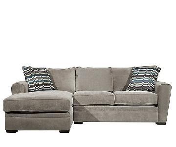 Raymour & Flanigan 2 Piece Sectional Sleeper Sofa