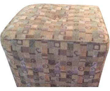 Fabric Upholstered Cube Seat