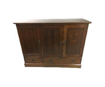 Stickley Oak Entertainment Cabinet