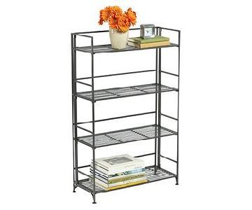 Container Store 4-Shelf Foldable Iron Shelving Unit