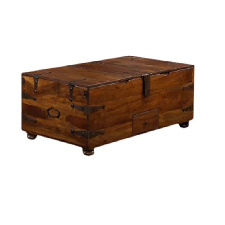 Crate & Barrel Queen Size Wood Bed Frame AptDeco