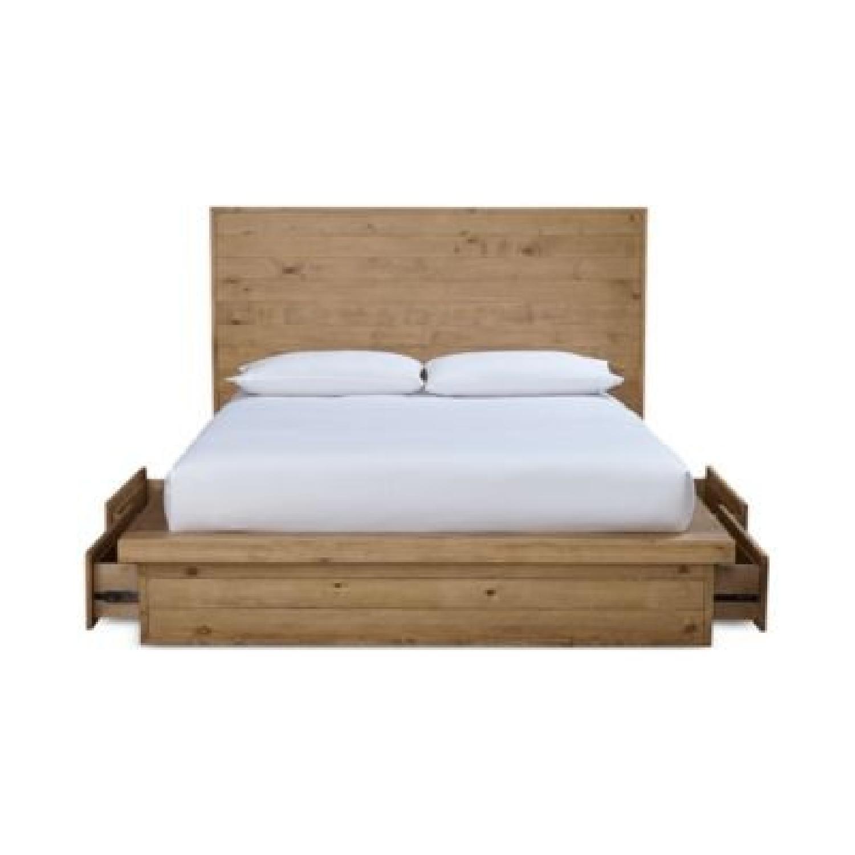Macyu0027s Abilene Solid Pine Queen Storage Platform Bed ...
