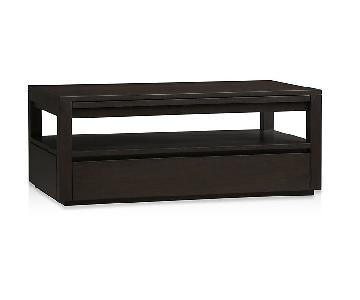Crate & Barrel Tourney Rectangular Coffee Table